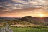 Sunset from Mam Tor, Peak District Photographic Print by Verity E. Milligan