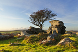 A View of Saddle Tor at Sunset. Photographic Print by Alex Hare
