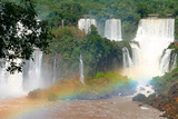 Iguazu Waterfalls in Brazil Rainbow Photographic Print by  Doug88888