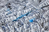 Aerial View of Ponds in Glacier Field Photographic Print by Adam Jones