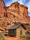 One Room Log School House, Fruita Photographic Print by Royce Bair