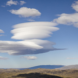 Lenticular Clouds over Foothills. Photographic Print by David Madison
