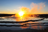 Geyser Smoke at Sunset Photographic Print by Piriya Photography