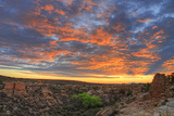 Sunset on Puebloan Ruins in Hovenweep Photographic Print by Matt Champlin