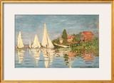 Regatta at Argenteuil, C.1872 Framed Giclee Print by Claude Monet