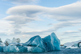 Blue Ice in Jokulsarlon, Iceland Photographic Print by Duane Miller