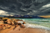 Storm Clouds over Mountains and Beach Photographic Print by Steve Daggar Photography