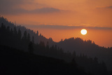 Kings Canyon Smokey Sunset Photographic Print by Buck Forester