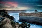Sunrise Glow over Limestone Cliffs Photographic Print by KF Shots