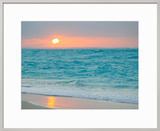Sunset in Paradise over the Caribbean and on a Beach Framed Photographic Print by Mike Theiss