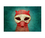 Death As A Fox In Mask Photographic Print by Kuba Gornowicz