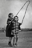 Skipping Girls Photographic Print by  FPG