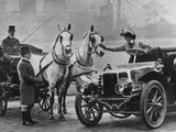 Cars and Horses Photographic Print by Hulton Archive