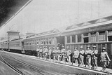 Officers Stand near A Railway Carriage during the Pullman Strike Photographic Print by Kean Collection