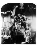 Noon Time in A Northern Pacific Rail Road Car En Route to Klondike, Alaska, during the Gold Rush Photographic Print by Archive Photos