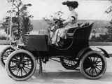 Woman Driving Early Automobile Photographic Print by Frederic Lewis