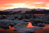 Jokulsarlon Lagoon at Sunset Photographic Print by Richard Collins