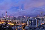 Shenzhen Skyline Panorama Photographic Print by  jalvaran