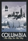 Columbia Retro Travel Poster Prints