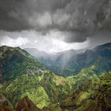 Rainshower over El Aguacate Photographic Print by Photograph by Rory O'Bryen