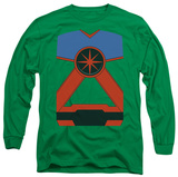 Long Sleeve: Justice League - Martian Manhunter Costume Tee T-shirts