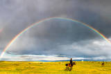 Rainbow & Rider Photographic Print by Feng Wei Photography