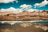 Clouds Reflected in a Lake. Tibet Landscape Photographic Print by  Volanthevist