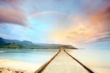 Kauai Hanalei Pier Fotografisk tryk af M Swiet Productions