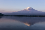 Mt. Fuji Reflected in Lake, Kawaguchiko, Photographic Print by  ULTRA.F