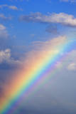 Rainbow with Blue Sky and Clouds Photographic Print by Wesley Hitt
