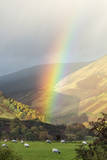 A Rainbow between Lonsdale and Blease Fell Photographic Print by Alex Hare