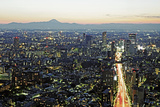 View over Tokyo to Mount Fuji at Dusk Photographic Print by Allan Baxter