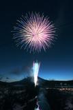 Fireworks&Mt.Fuji Photographic Print by yohey yamagata