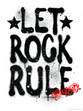 Aerosmith - Let Rock Rule Graffiti Photo by  Epic Rights