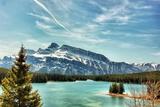 Two Jack Lake, Banff Alberta Photographic Print by (c) Neil Zeller 2012