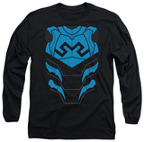 Long Sleeve: Justice League - Blue Beetle Costume Tee T-shirts