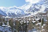 Saas-Fee Village Photographic Print by Michael Whitehead