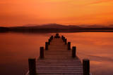 Twilight Pier Photographic Print by Andrew Turner