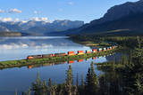 Intermodal Train Curving by Brule Lake Photographic Print by Mike Danneman