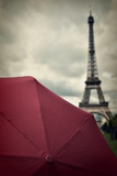 Eiffel Tower and Red Umbrella Photographic Print by Photo by Ira Heuvelman-Dobrolyubova