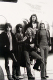 Aerosmith - Eurofest Jet 1977 (Black and White) Photo by  Epic Rights