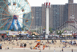 Beachgoers at Coney Island Photographic Print by Ryan Mcvay