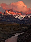 Fitz Roy- Fiery Sunrise Photographic Print by marion faria photography