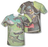 Batman Classic TV - Underwater (Front/Back Print) T-shirts