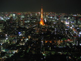 Tokyo Tower at Night Photographic Print