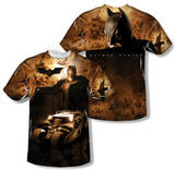 Batman Begins - Batsmobile (Front/Back Print) T-Shirt