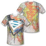 Superman - Urban Shields (Front/Back Print) T-Shirt