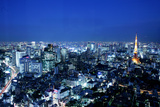 Night View in Tokyo Photographic Print by  Multi-bits