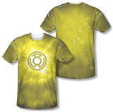 Green Lantern - Yellow Energy (Front/Back Print) T-shirts