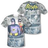 Batman Classic TV - 60s Panels (Front/Back Print) T-Shirt